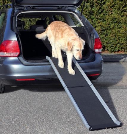 Aluminiowa, antypoślizgowa, składana rampa dla psa - 38x155 cm - do 75 kg