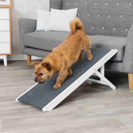Antypoślizgowa rampa z regulacją wysokości dla psa, kota i innych zwierząt, podest do wchodzenia na meble - 36x90cm