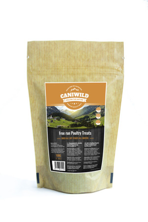 Caniwild 80/20 Free run Poultry Grain-Free all life stages Treats 100g