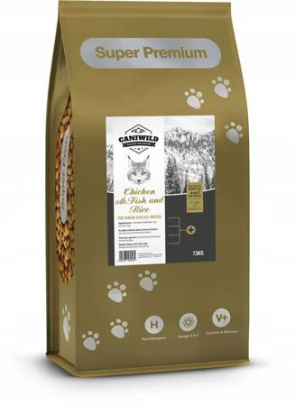 Caniwild Senior Cat Chicken and Fish with Rice 7,5kg