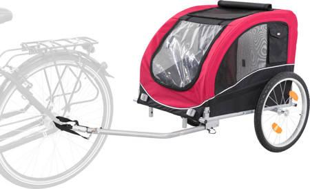 Duża przyczepka rowerowa dla psa Przyczepa rowerowa L czerwona