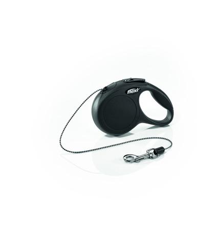 Flexi Smycz automatyczna New Classic Cat XS linka 3m czarna