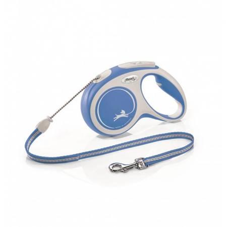 Flexi Smycz automatyczna New Comfort M linka 8m niebieska