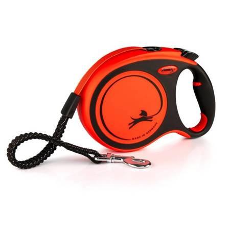 Flexi Smycz automatyczna XTREME L taśma 5m pomarańczowa