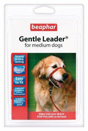 Kantar, obroża uzdowa dla psów średnich ras Holter Gentle Leader czerwona