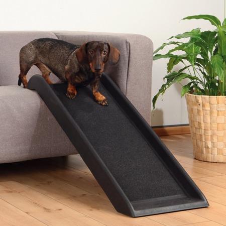 Lekka, antypoślizgowa rampa dla psa, podest do bezpiecznego wchodzenia na meble i do samochodu  - 38x100 cm - do 50 kg