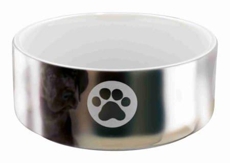 Miska ceramiczna w kolorze srebrnym 1,5l