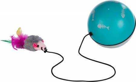 Piłka z silnikiem i mysz na gumce