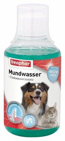 Płyn do higieny jamy ustnej psów, chroni zęby, dziąsła i odświeża oddech, dolewany do picia Mundwasser 250ml