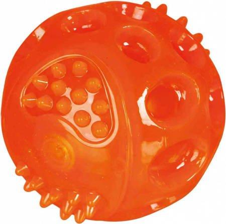 Świecąca i pływająca piłka dla psa 7,5cm