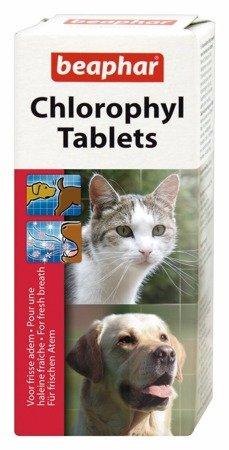 Tabletki odświeżające oddech i w naturalny sposób likwidujące niepożądane zapachy z jamy ustnej psa i kota Chlorophyl Tablets 30 szt