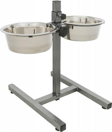 Zestaw: regulowany stojak z kompatybilnymi miskami - 2 x 1,8 l